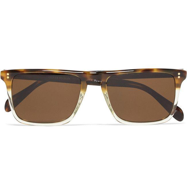 Bernardo Rectangular-Frame Polarised Sunglasses by Oliver Peoples