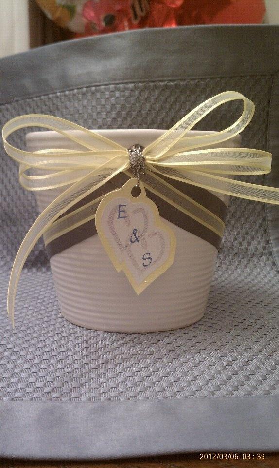 Flower Pot for Bridal Shower Centerpiece