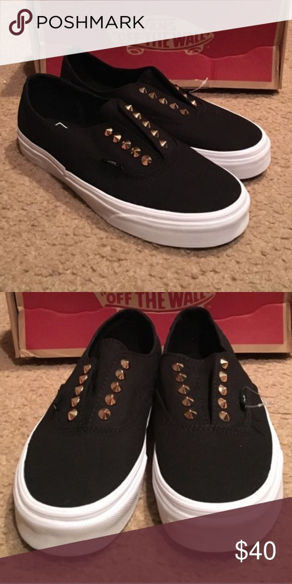 Studded Vans Never worn. Perfect condition. Bought from a fellow posher but are too small!! Selling what I paid for them Vans Shoes Sneakers