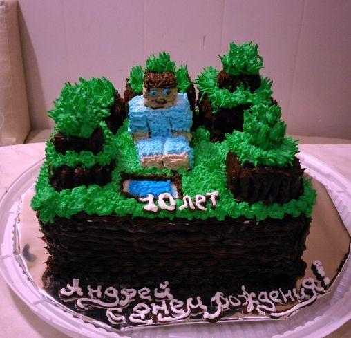 """Торт """" Minecraft """""""