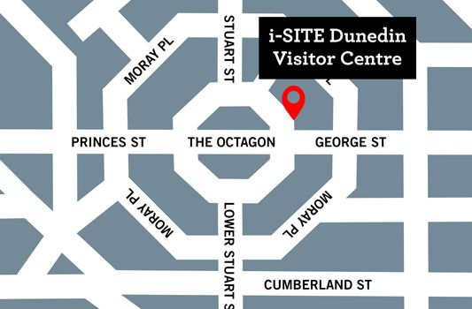 Location Map of the i-Site Visitors Centre