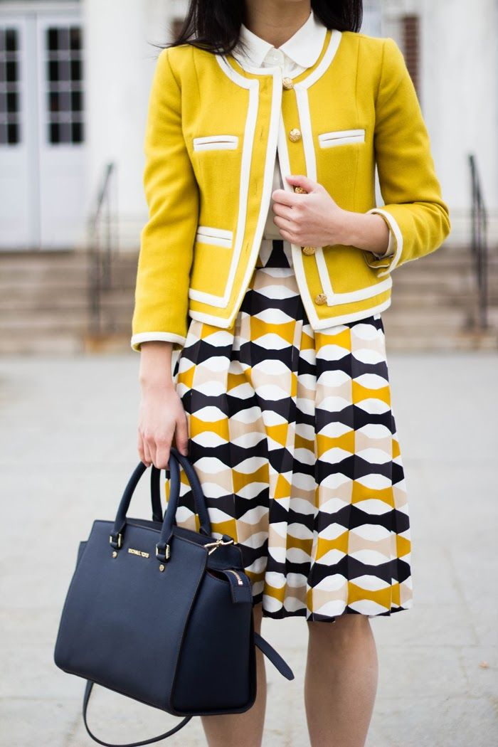 Lady Jacket & Bow Skirt (Everlane Silk Blouse Review) by @Elle