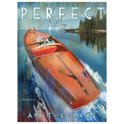 Chris Craft Wood Boat Art | Patrick Reid O'Brien | Lakehouse Lifestyle| Lake Decor