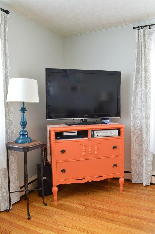Repurpose a dresser for a TV stand -- Plaster & Disaster
