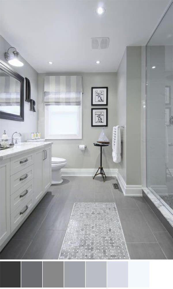 26 Gray Bathroom Ideas Worthy Of Your Experiments Bathroom Color Schemes Grey Bathrooms Bathroom Interior