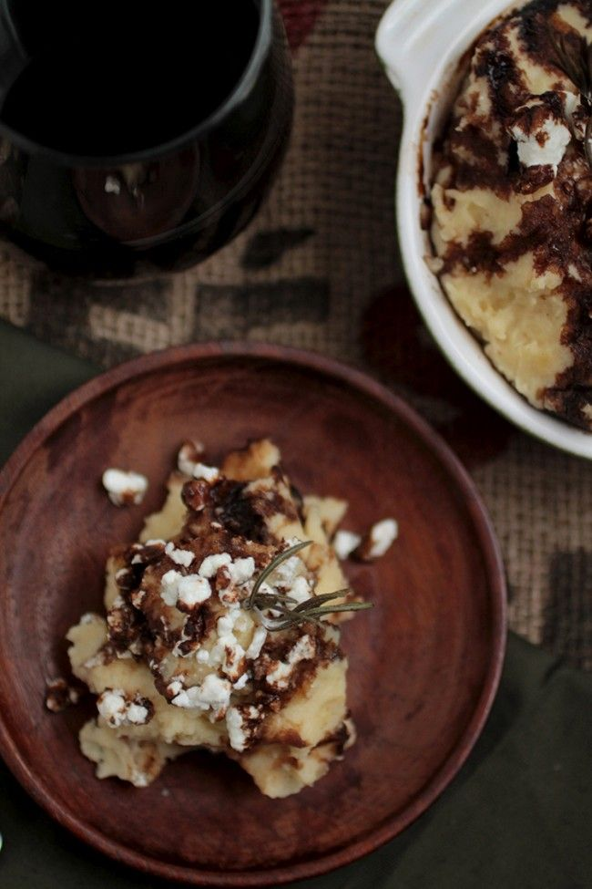 ROSEMARY BROWNED BUTTER MASHED POTATOES WITH GOAT CHEESE AND BALSAMIC ...