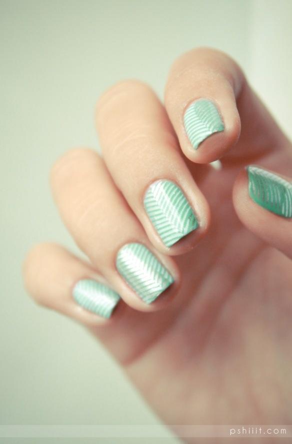 seafoam and metallic gradient