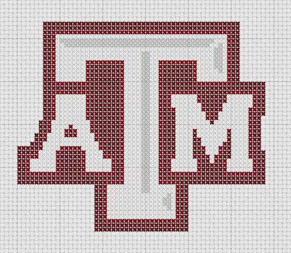 Texas A&M Logo Cross Stitch Pattern ONLY