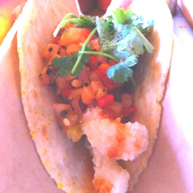 ... salsa fish tacos with tomato and orange salsa fried calamari
