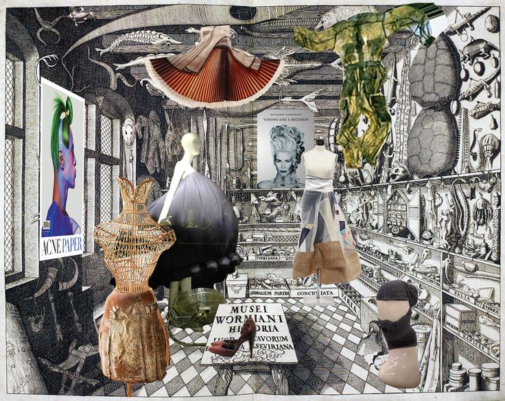 ,Il Fondaco dei Tedeschi, shops as small wunderkammers, early collage. Image Courtesy of OMA