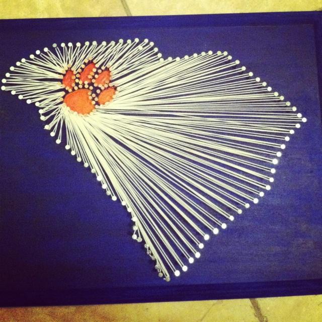 Clemson, South Carolina string art
