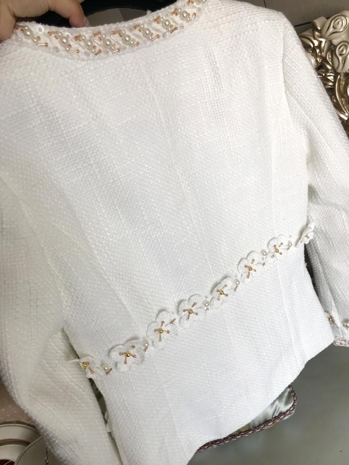 2017 Pista paris cosmopolita tweed paletó com emboridery mulheres grife de luxo trança frisado applique casaco roupa elegante em Jaquetas básicas de Das mulheres Roupas & Acessórios no AliExpress.com | Alibaba Group
