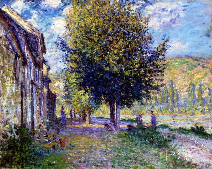 Claude Monet : Banks of the Seine at Lavacourt: 1878   -