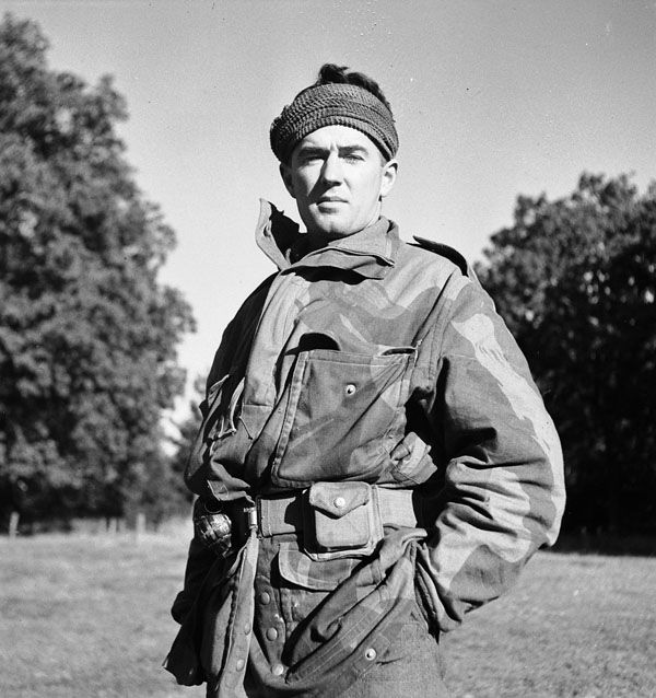 Lieutenant Gordon H. Sellar, Scout Platoon Officer, Calgary Highlanders, Kapellen, Belgium, 6 October 1944. Sellar continued his career after the war and achieved the rank of Brigadier-General with the Canadian Forces. His wife Gloria Sellar became well known as an activist with regards to veterans' causes.