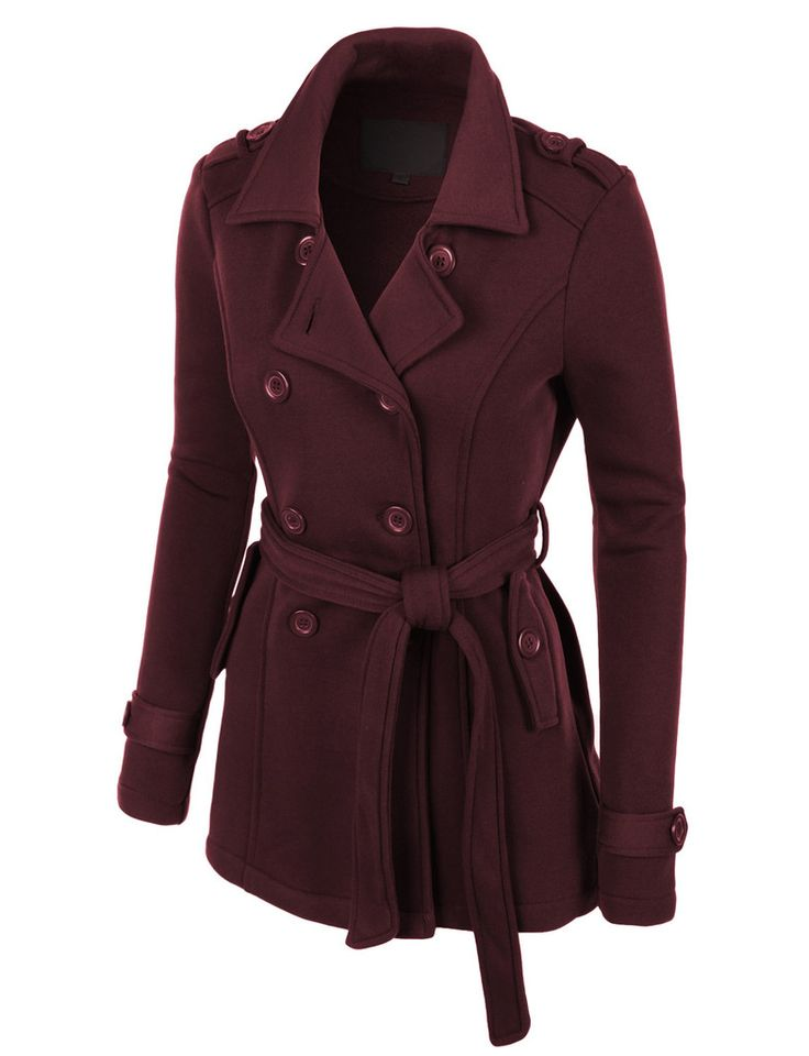 Brown Pea Coat Womens