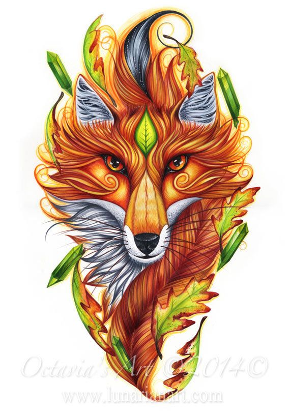 Fox Art - Fox Magic - Fox Symbolism - Giclée Archival Print by OctaviaTattoo on Etsy https://www.etsy.com/listing/211429250/fox-art-fox-magic-fox-symbolism-giclee