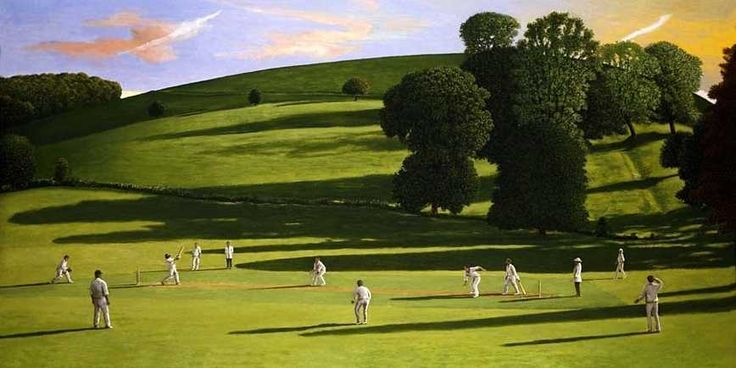 The Cricket Game III, 2004 by David Inshaw