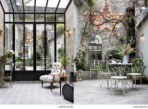 patio-secret-petit-dejeuner- Hôtel Henriette 9 rue des Gobelins, 75013 Paris Métro : Les Gobelins, ligne 7