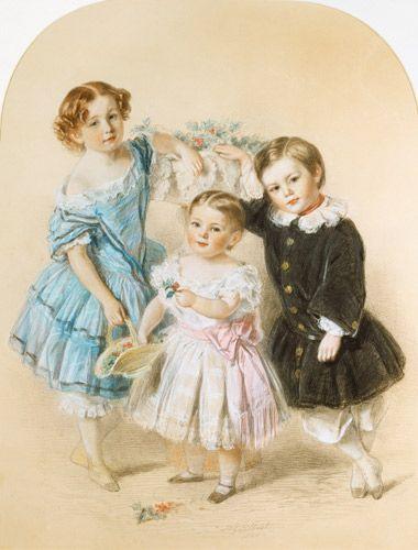 Josiah Gilbert-Portrait of three young children