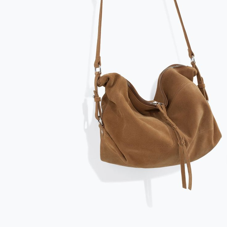 Image 5 of LEATHER AND SUEDE MESSENGER BAG from Zara