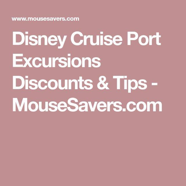 Disney Cruise Port Excursions Discounts & Tips - MouseSavers.com
