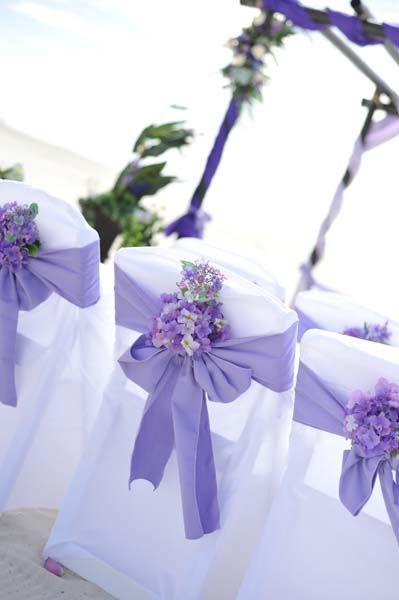 Big Day Weddings Beach Purple Setup Color Scheme