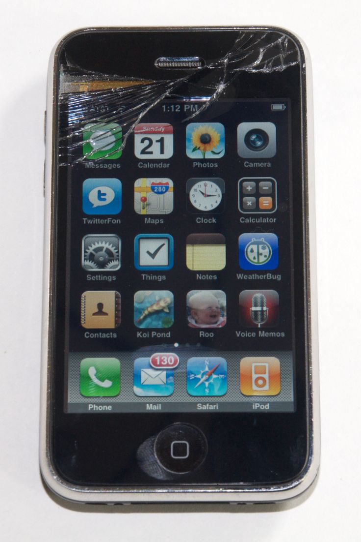 cracked screen - http://www.iphonefixed.co.uk/iphone-repairs/iphone-3gs-repairs/