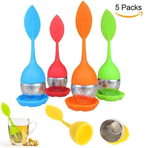 Loose tea infuser set. 7. some cool-looking, colorful set of loose leaf tea infusers. ok, not coffee related but still cool!  cliffandpebble.com