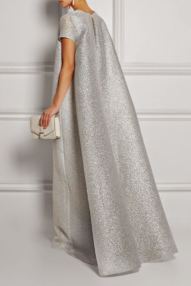 The Daily Frock: Emilia Wickstead Silver Milly Cloqué Gown | The Terrier and Lobster