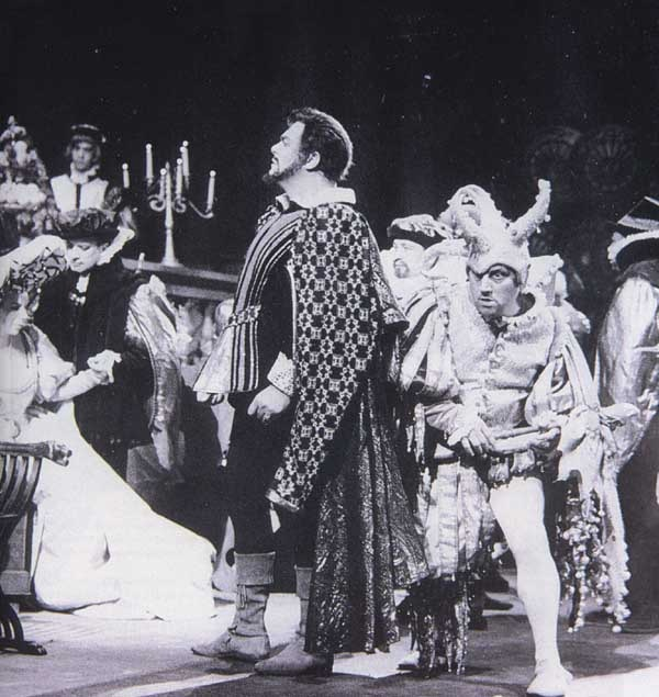 "Luciano Pavarotti as the Duke of Mantua in Verdi's ""Rigoletto"""
