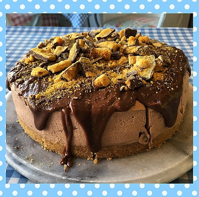 Milk Chocolate Crunchie Cheesecake