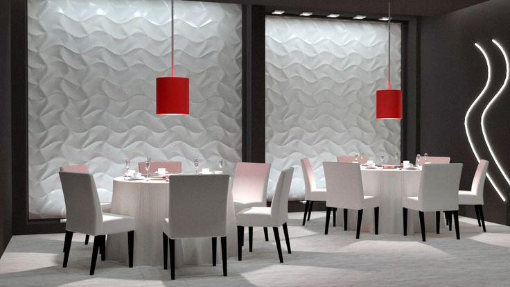 Decorative panels in the restaurant
