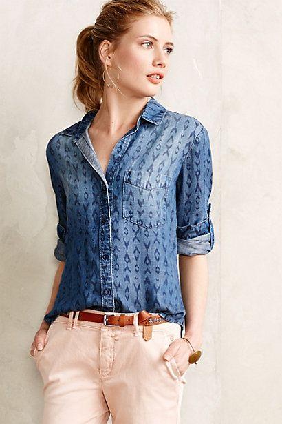 Perfect for this Autumn - @AnthropologieEU Feldspar Chambray Shirt #anthropologie #fashion #vintage