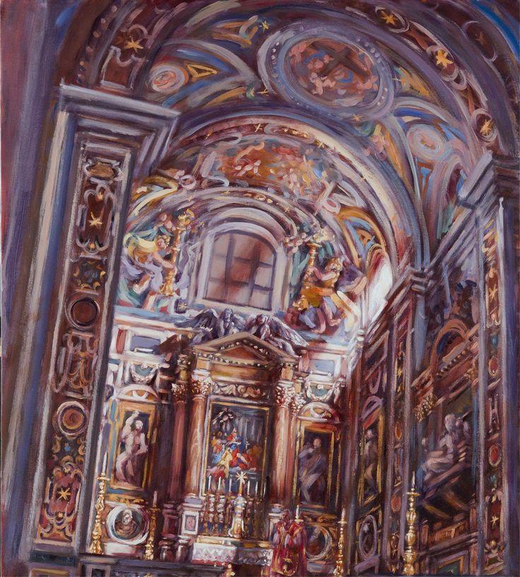 Santa Maria sopra Minerva; chapelle Aldobrandini; 95x80 cm; huile sur toile; 2014