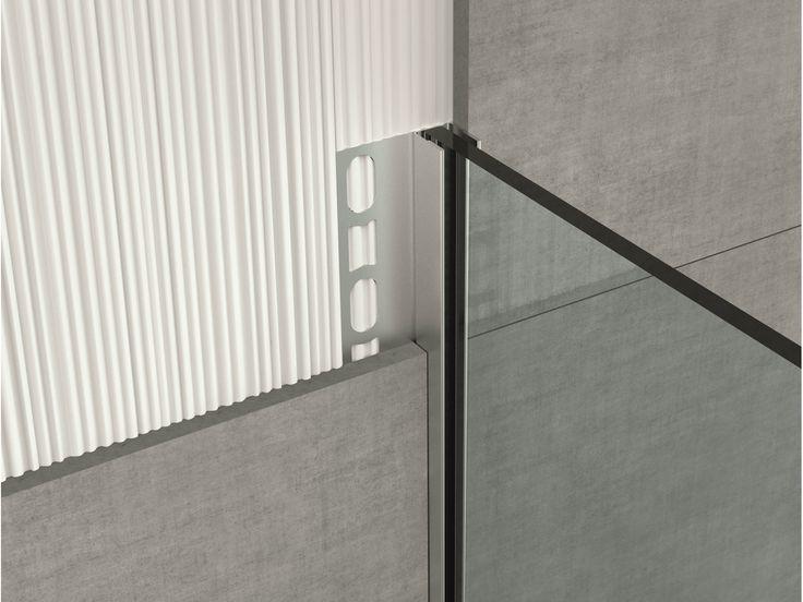 Stainless steel edge profile for floors GLASS PROFILE GPS2 - PROFILPAS