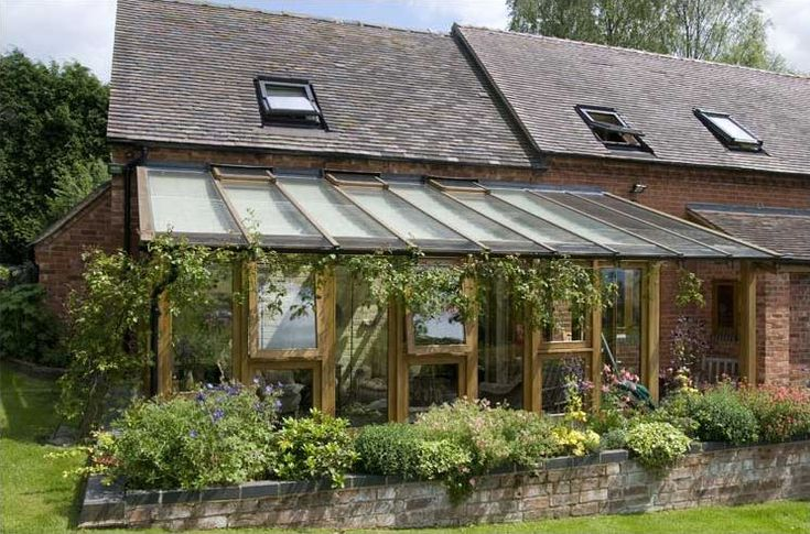 Lean To Rustic Conservatory Greenhouse Serre Oak