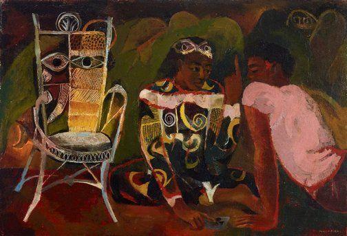 The Fortune Teller (1956) by Donald Friend (Australia 06 Feb 1915 – 16 Aug 1989)