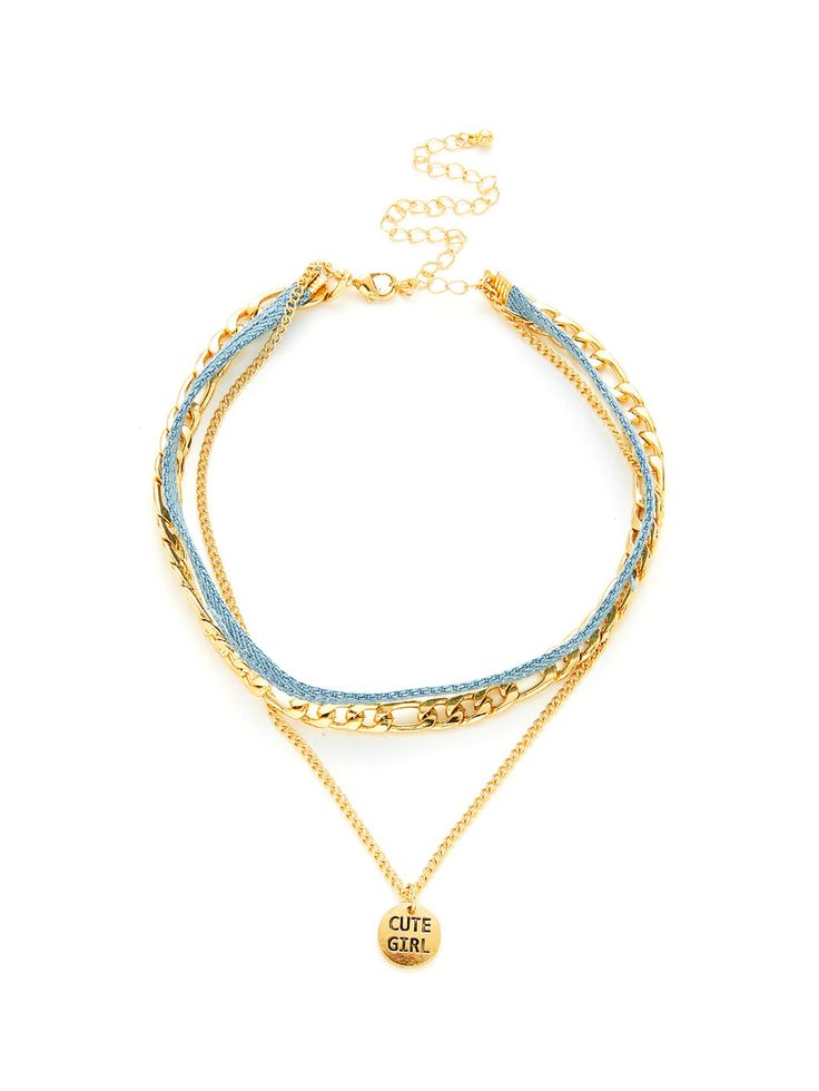 Shop Letter Print Round Pendant Chain Necklace online. SheIn offers Letter Print Round Pendant Chain Necklace & more to fit your fashionable needs.