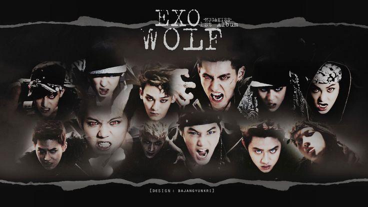 exo wolf exo wolf hugampkiss wallpaper exo pinterest
