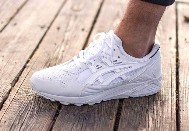 all white asics running shoes
