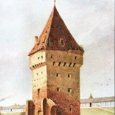 Carti Postale Romania dupa 1918 - Carte postala ilustrata Turnul Soldis - Sibiu