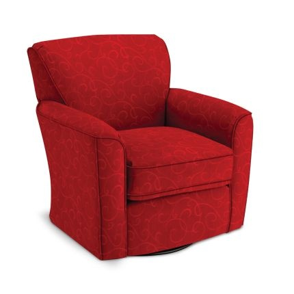 35 Quot Red Upholstered Swivel Glider Chair Family Room