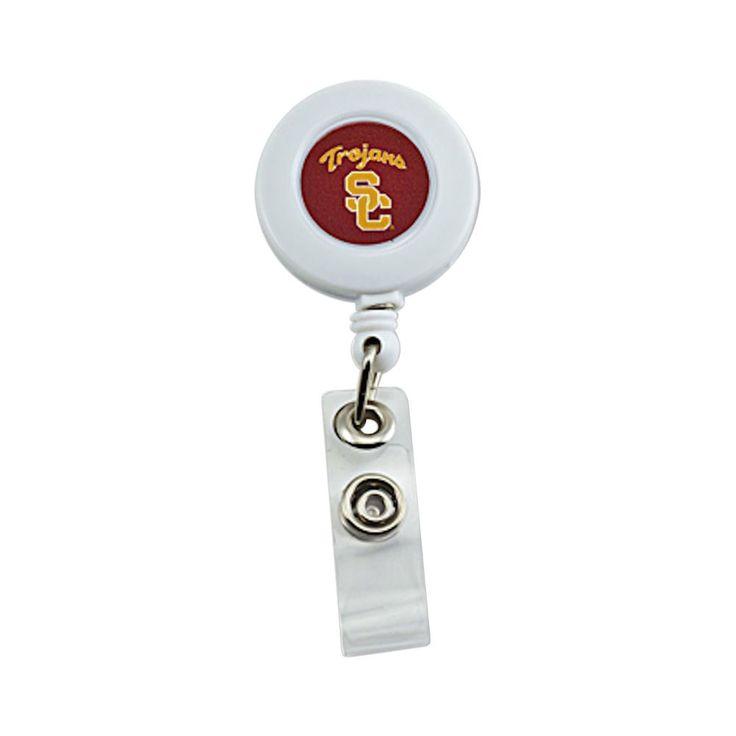Aminco International USC Trojans Retractable Badge Reel Id Ticket Clip Ncaa
