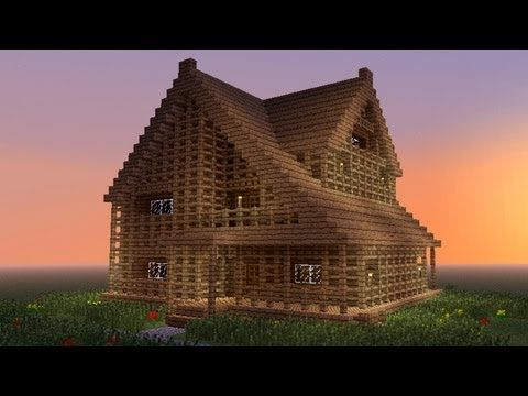 MINECRAFT: How to build big wooden house - YouTube
