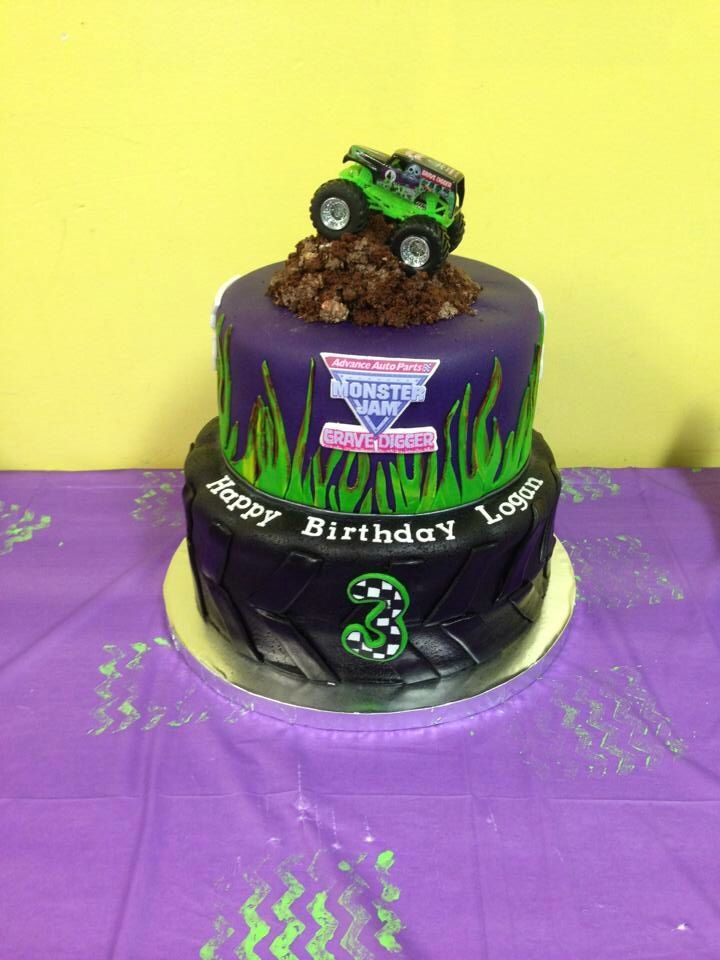 Logan's 3rd Birthday Grave Digger Monster Truck