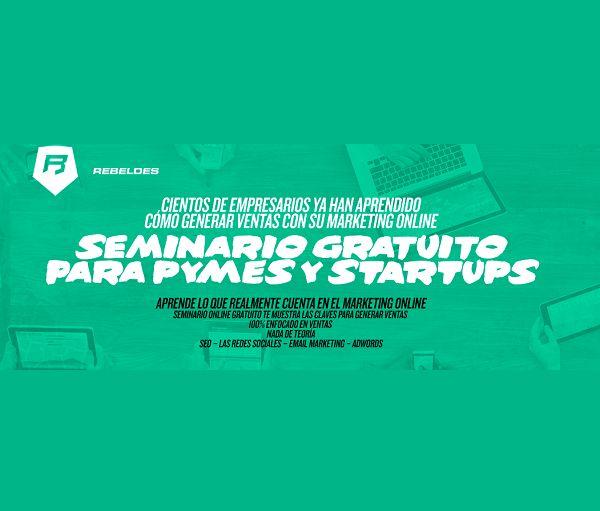 SEMINARIO ONLINE GRATUITO PARA PYMES Apúntate aquí a los Cursos @rebeldesonline  http://rebeldesmarketingonline.com/email/pymes/pymes.html?utm_source=RebeldeSenior&utm_medium=ICEGRAM&utm_campaign=PYMES  #webinar #seminario #gratis #gratuito #curso #online #pyme #pymes #emprendedores