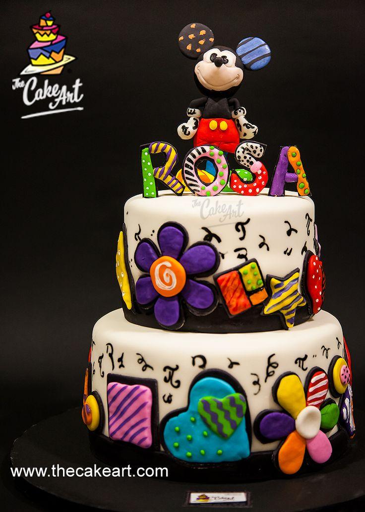 Bello #pastel: #Mickey y #PopArt al estilo de #Britto. ¡Claro que…