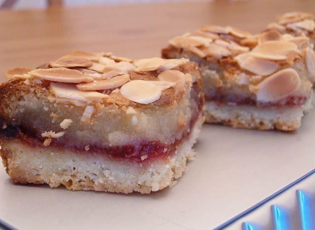 Raspberry Poke Cake With Marzipan