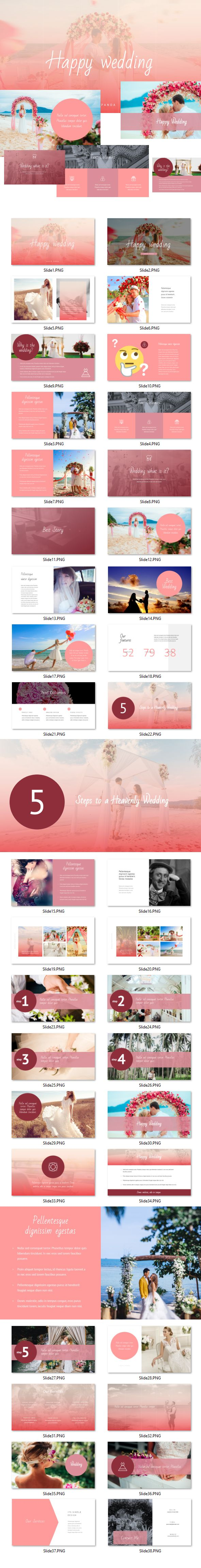 Wedding - #Powerpoint Template - #Presentation Templates Download here: https://graphicriver.net/item/wedding-powerpoint-template/19617748?ref=alena994
