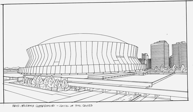 Superdome Drawing Google Search New Orleans Drawings